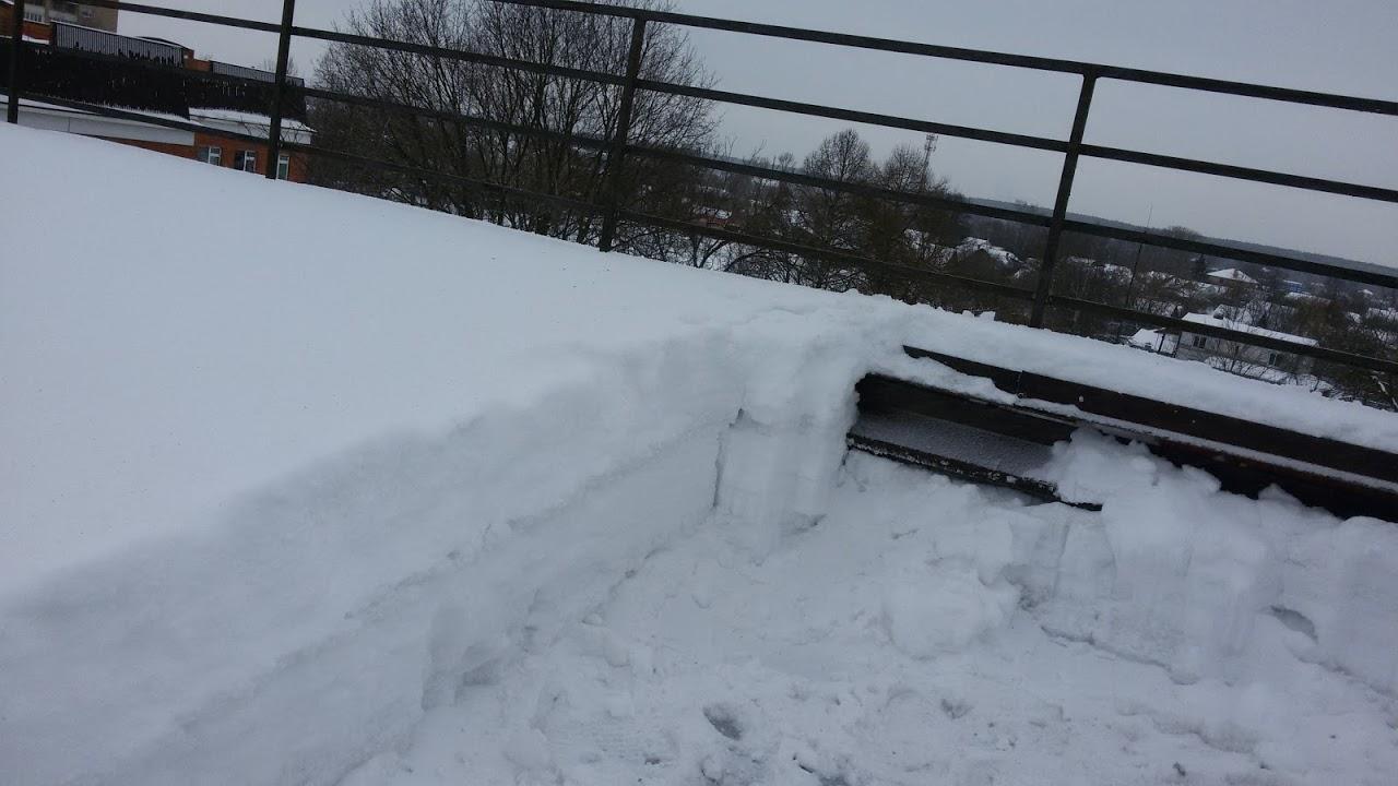 Очистка крыши снега
